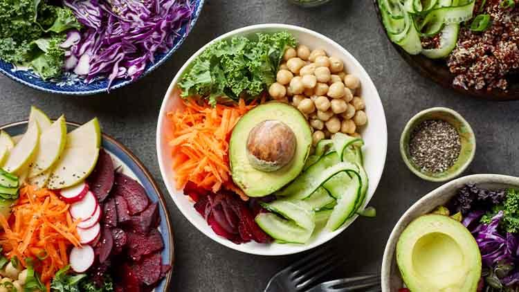 Breakfast vegan bowls