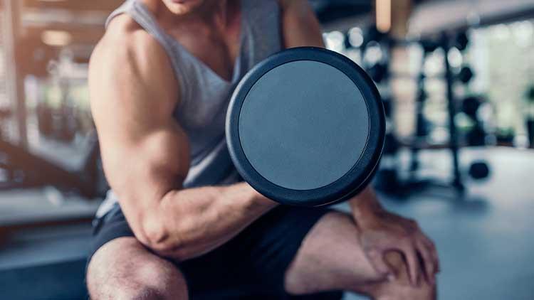 sports man in a gym