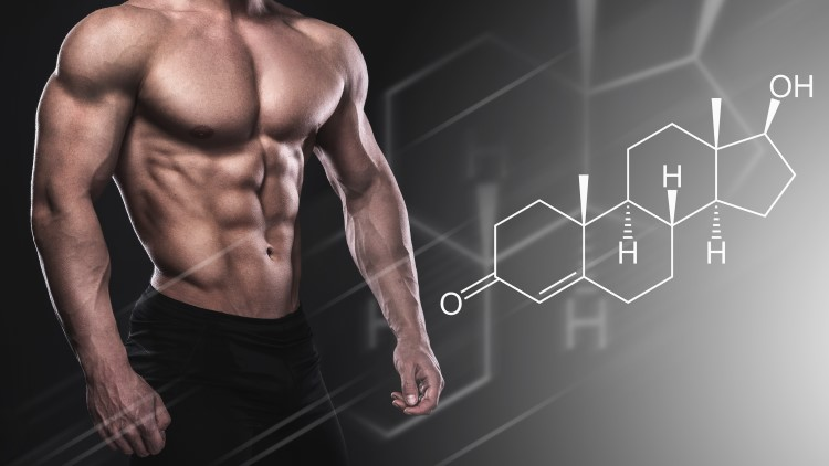 muscular-male-with-testosterone-formula